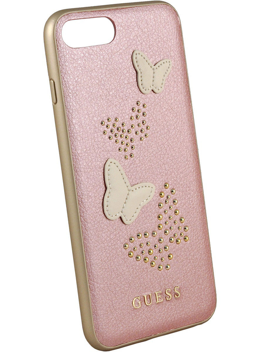 Чехлы для телефонов GUESS Чехол Guess для iPhone 7Plus/8Plus Studs&Sparkles Hard PU/Butterflies Rose gold чехлы для телефонов guess чехол guess для iphone 7 8 flower desire 4g hard pu roses grey
