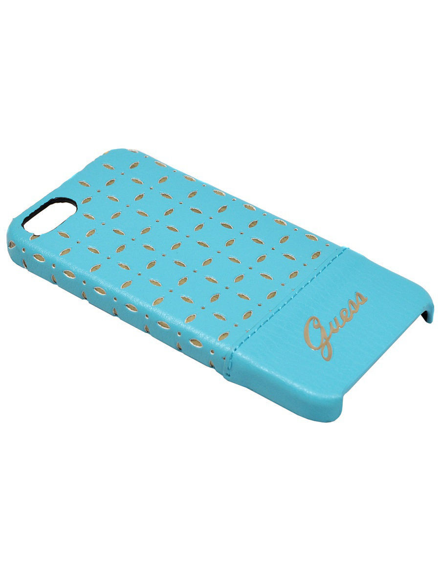 Чехлы для телефонов GUESS Чехол Guess для iPhone 5S/SE GIANINA Hard Turquoise чехлы для телефонов guess чехол guess для iphone 7 8 flower desire 4g hard pu roses grey