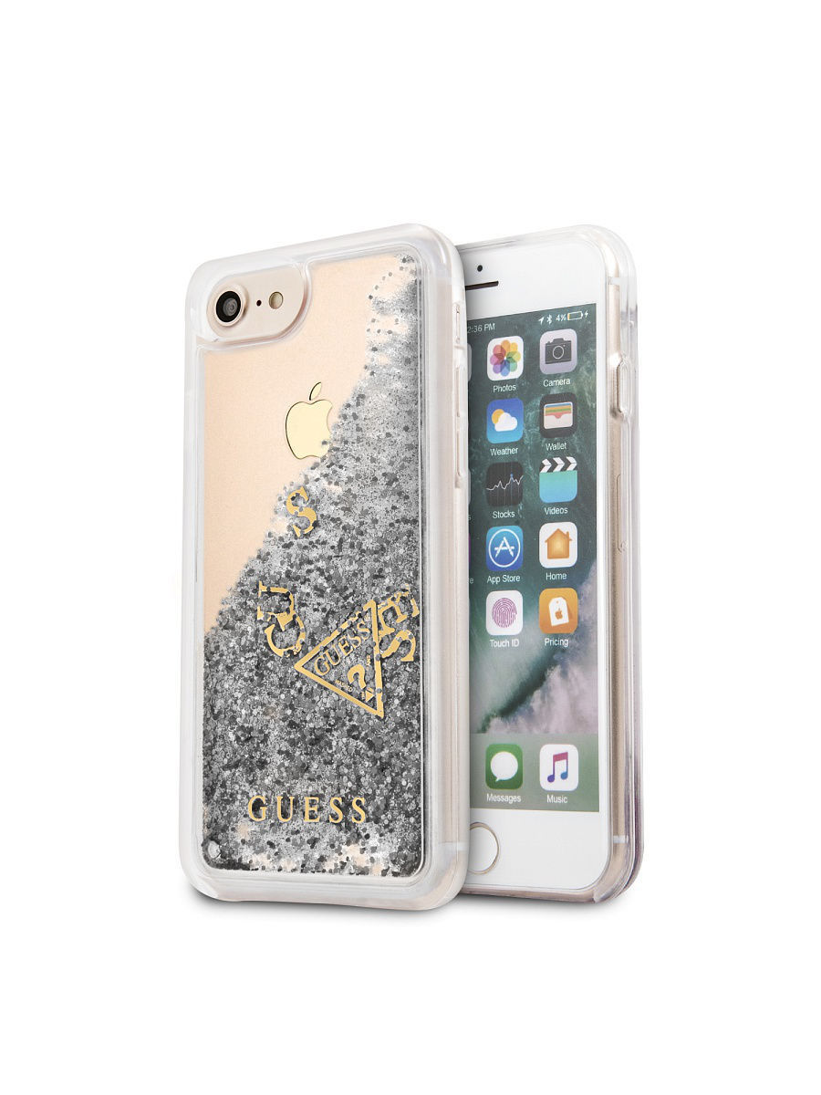 Чехлы для телефонов GUESS Чехол Guess для iPhone 7/8 Glitter Hard PC Silver