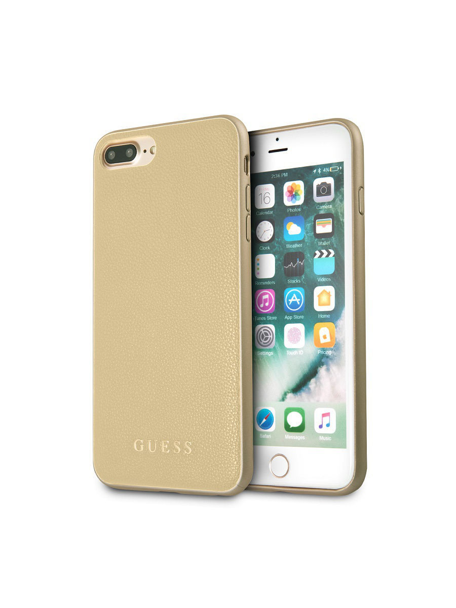 Чехлы для телефонов GUESS Чехол Guess для IPhone 7+/8+ Iridescent Hard PU Gold чехлы для телефонов guess чехол guess для iphone 7 8 flower desire 4g hard pu roses grey