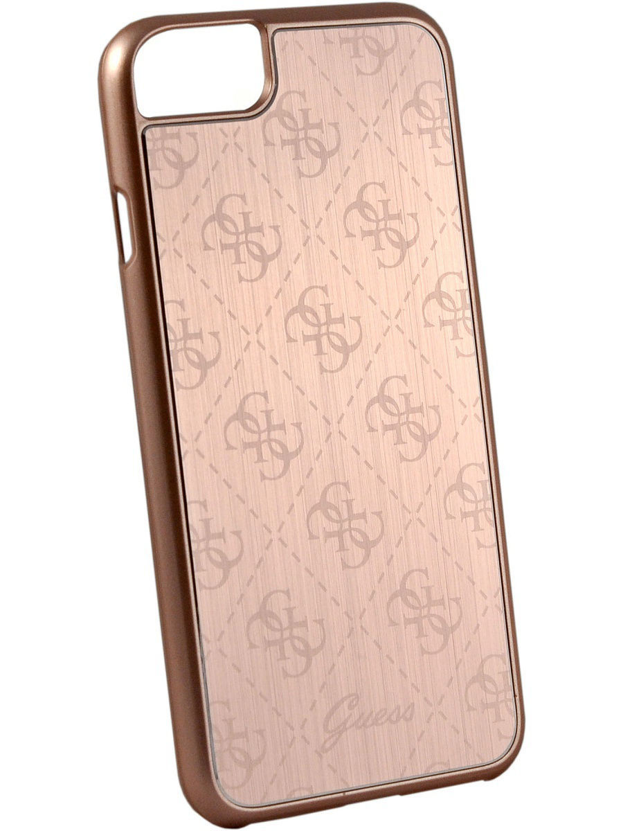Чехлы для телефонов GUESS Чехол Guess для iPhone 7/8 4G Aluminium plate Hard Rose gold чехлы для телефонов guess чехол guess для iphone 7 8 flower desire 4g hard pu roses grey
