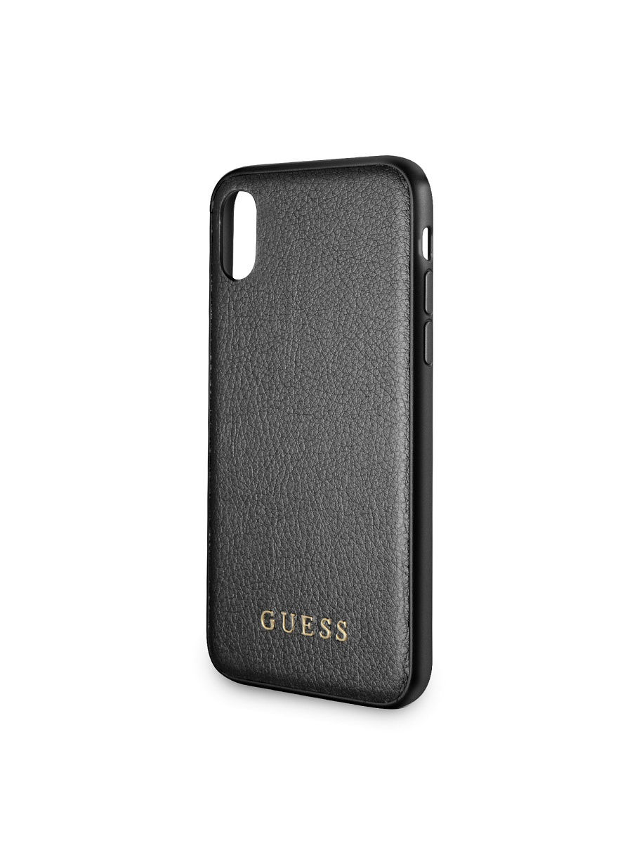 Чехлы для телефонов GUESS Чехол Guess для IPhone X Iridescent Hard PU Black guess gu460dwhlf92