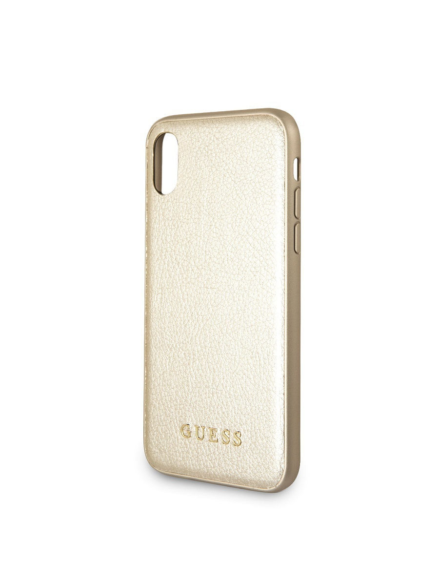 Чехлы для телефонов GUESS Чехол Guess для IPhone X Iridescent Hard PU Gold guess gu460dwhlf92
