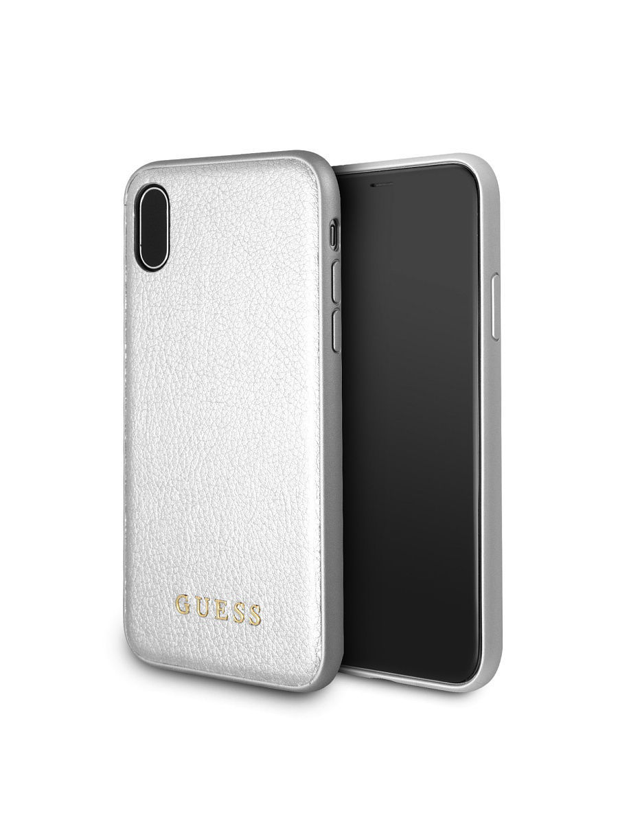 Чехлы для телефонов GUESS Чехол Guess для IPhone X Iridescent Hard PU Silver чехлы для телефонов guess чехол guess для iphone 7 8 flower desire 4g hard pu roses grey