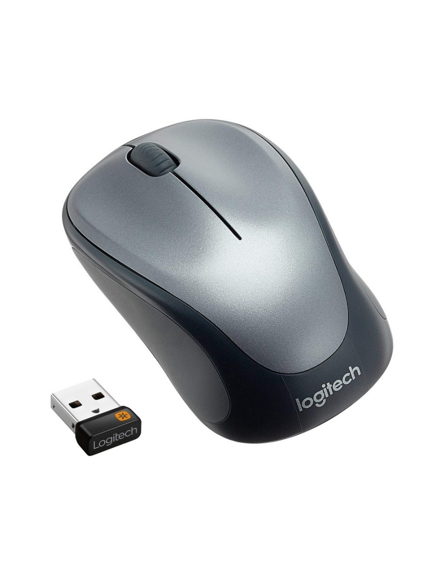 Мыши Logitech Мышь Wireless Mouse M235 Silver logitech wireless mouse m560