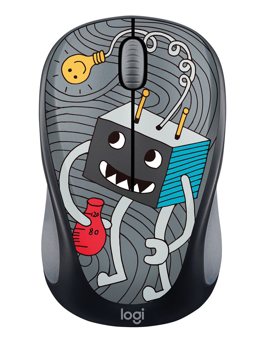 Мыши Logitech Мышь Wireless Mouse M238 Doodle Collection - LIGHTBULB logitech wireless mouse m560