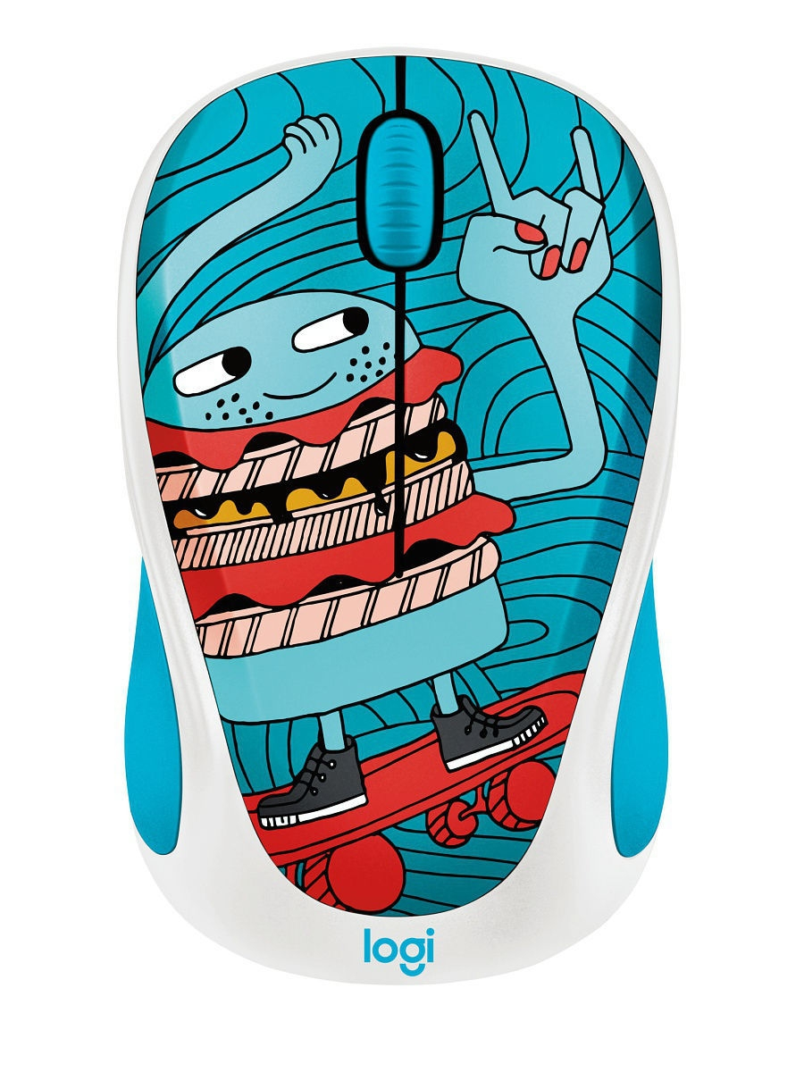 Мыши Logitech Мышь Wireless Mouse M238  Doodle Collection - SKATEBURGER logitech wireless mouse m560