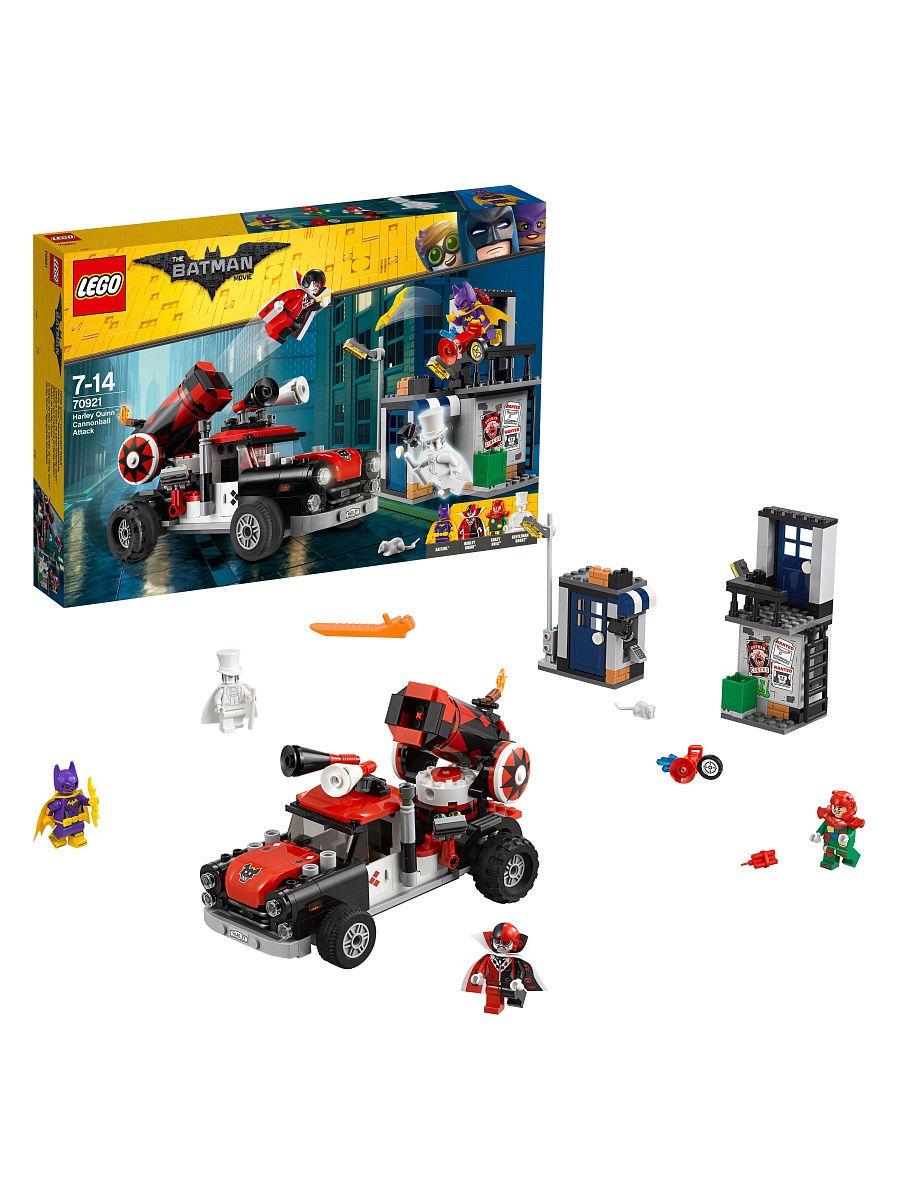 Конструкторы Lego LEGO Тяжёлая артиллерия Харли Квинн Batman Movie 70921 конструкторы lego lego атака глиноликого 70904 batman movie