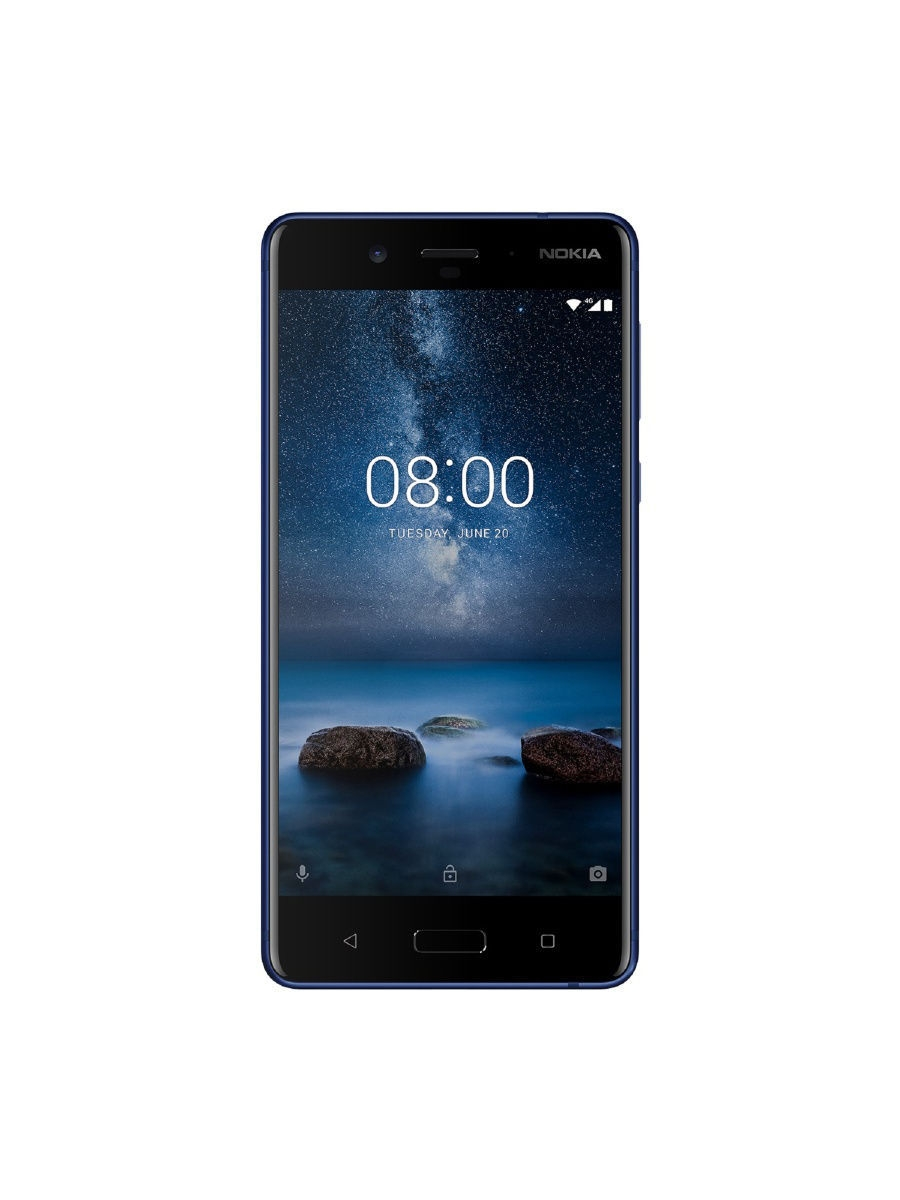 Смартфоны Nokia Смартфон 8 DS Tempered Blue гарнитура wh 208 nokia