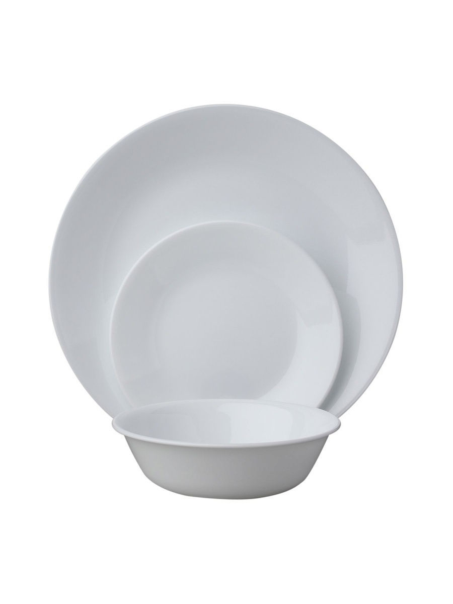 Сервизы столовые Corelle Набор посуды Winter Frost White 18 предметов corelle набор посуды shadow iris 16 пр
