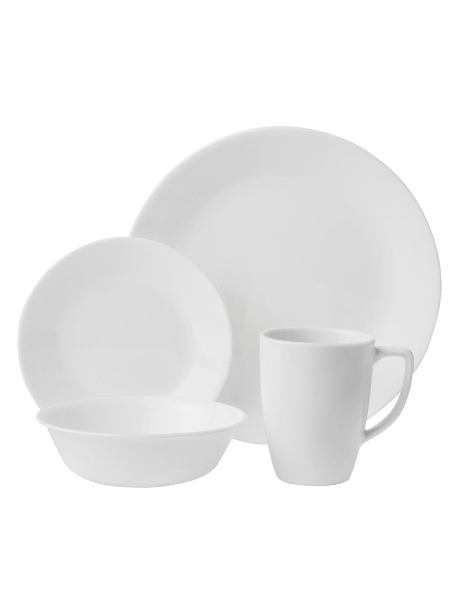 Сервизы столовые Corelle Набор посуды Winter Frost White 16 предметов corelle набор посуды shadow iris 16 пр