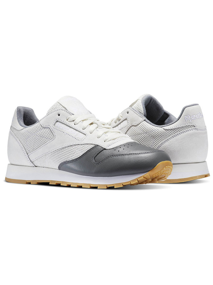 Кроссовки Reebok Кроссовки CL LEATHER LS CHALK/ALLOY/WHITE-GU emote alloy