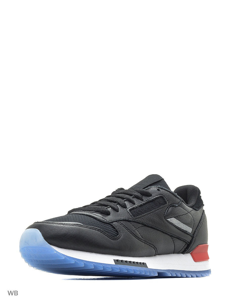 Кроссовки Reebok Кроссовки CL LEATHER RIPPLE L BLACK/WHITE/RED/DUST носки взр cl fo no show sock white reebok