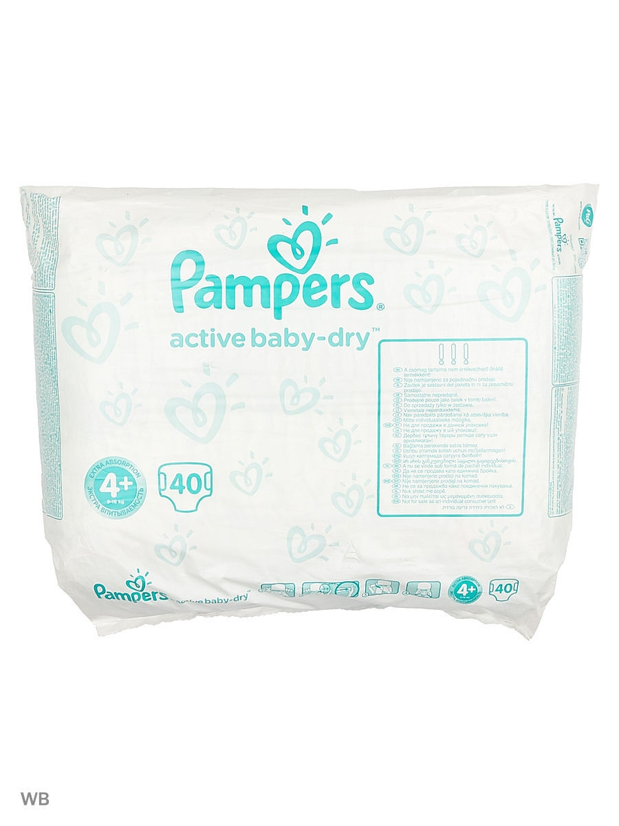 Подгузники Pampers PAMPERS/WHITE/40ШТ.