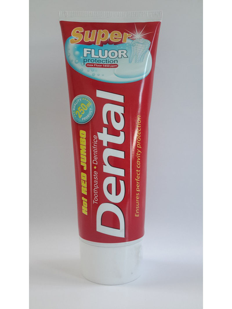 Зубная паста Dental Hot Red Jumbo Super Fluor Protection Супер фтор защита 250мл