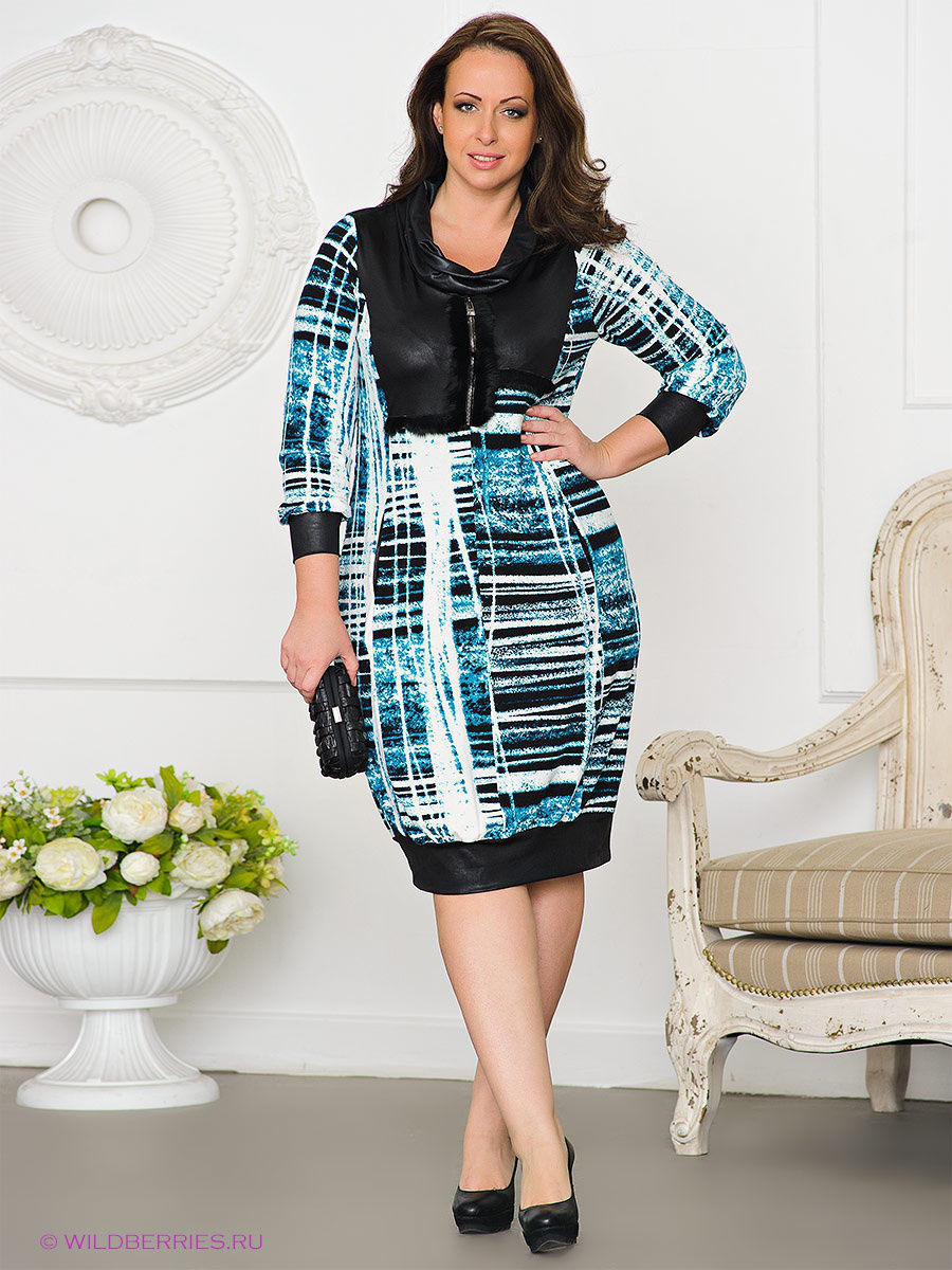 Платье Gemko plus size 12790/TURKUAZ