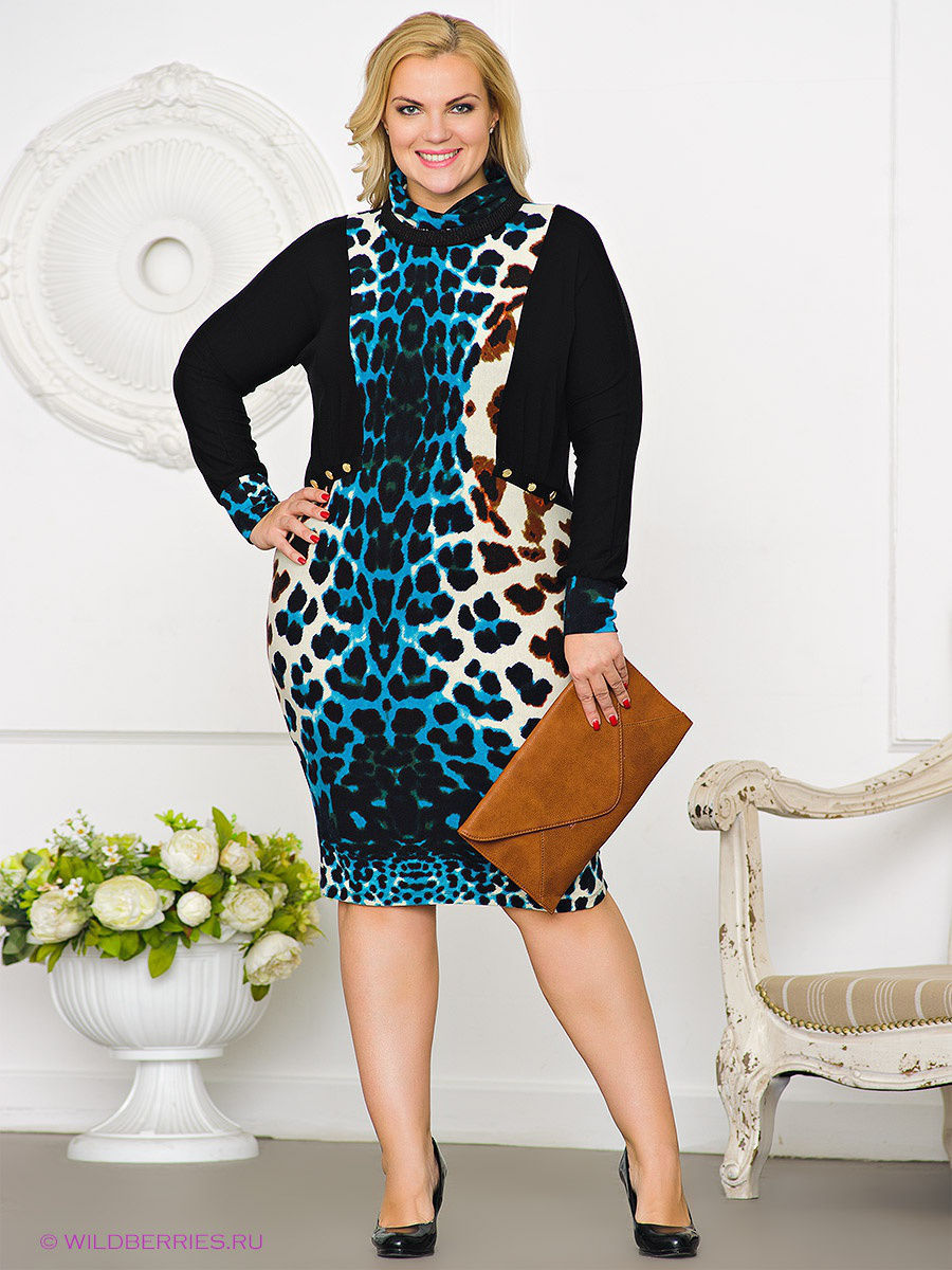 Платье Gemko plus size 12904/TURKUAZ