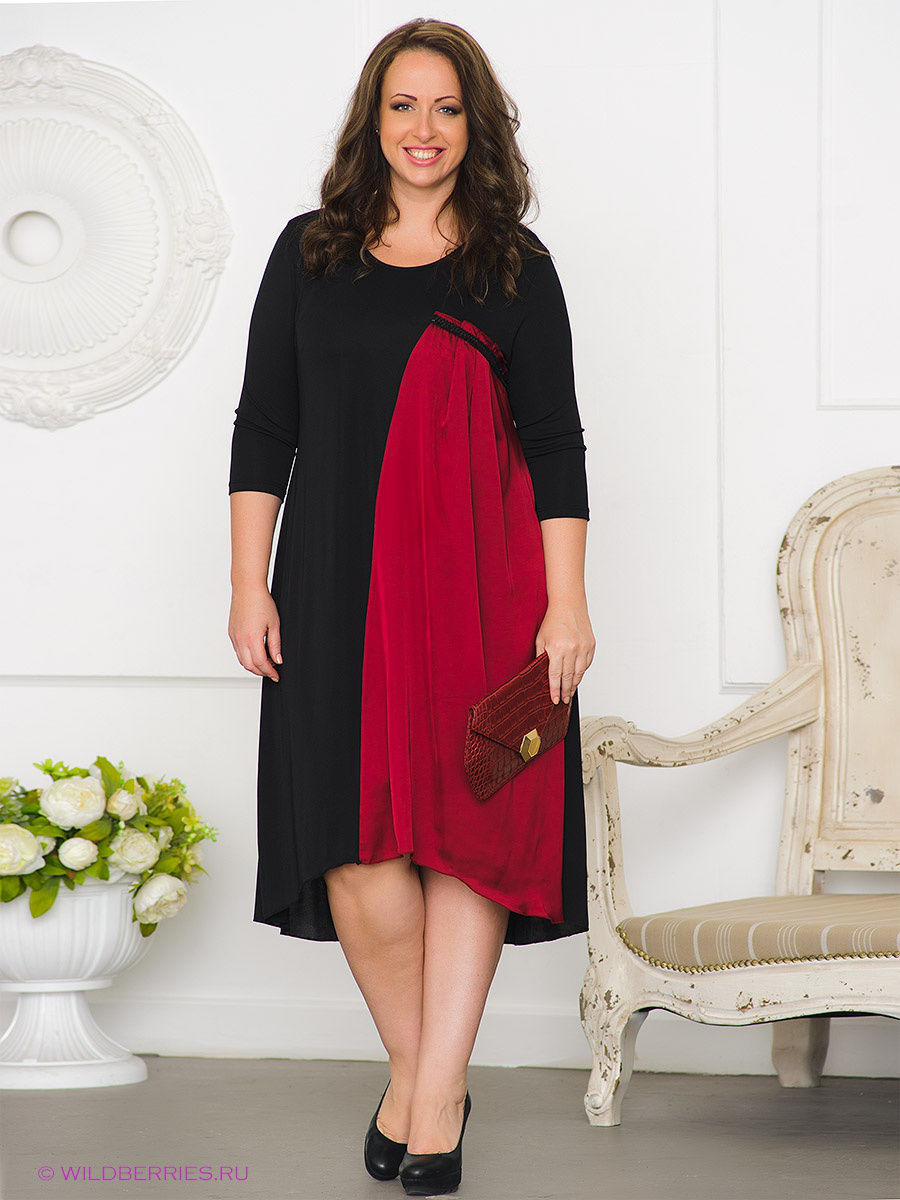 Платье Gemko plus size 13054/BORDO