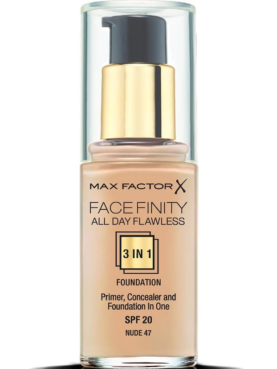 Тональные кремы MAX FACTOR Тональная основа Facefinity All Day Flawless 3-in-1 №47 max factor facefinity all day flawless цвет 47 nude вес 50 00