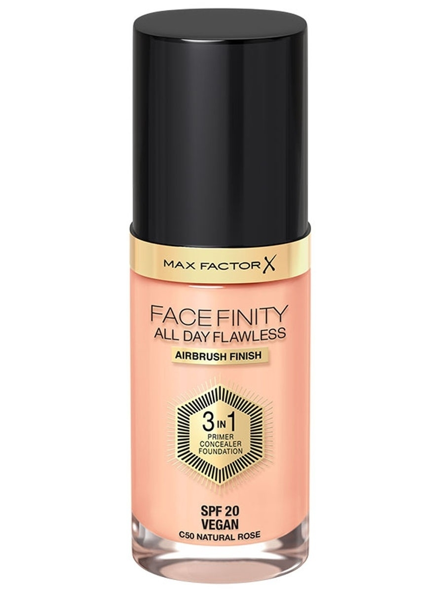 Тональные кремы MAX FACTOR Тональная основа Facefinity All Day Flawless 3-in-1 №50 румяна max factor flawless perfection blush цвет 225 mulberry variant hex name ad6952 вес 50 00