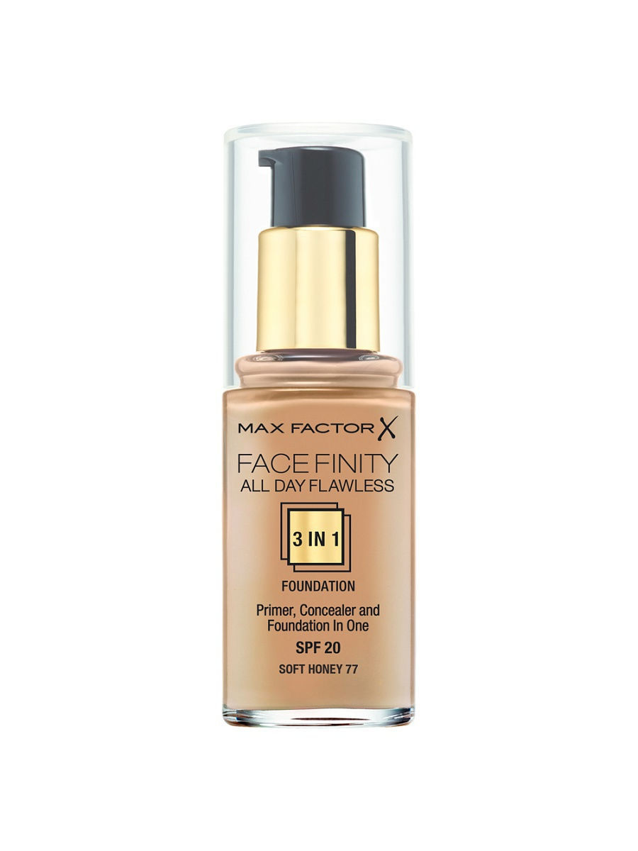 Тональные кремы MAX FACTOR Тональная основа Facefinity All Day Flawless 3-in-1 №77 max factor facefinity all day flawless цвет 47 nude вес 50 00
