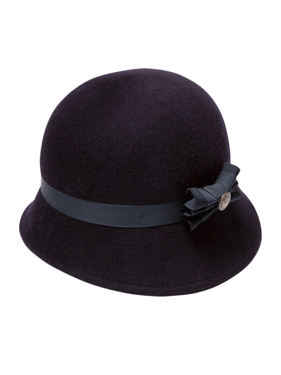 Ladies' Glamourous Cambric With Bowknot Bowler/Cloche Hat Ladies fashion bowler hat