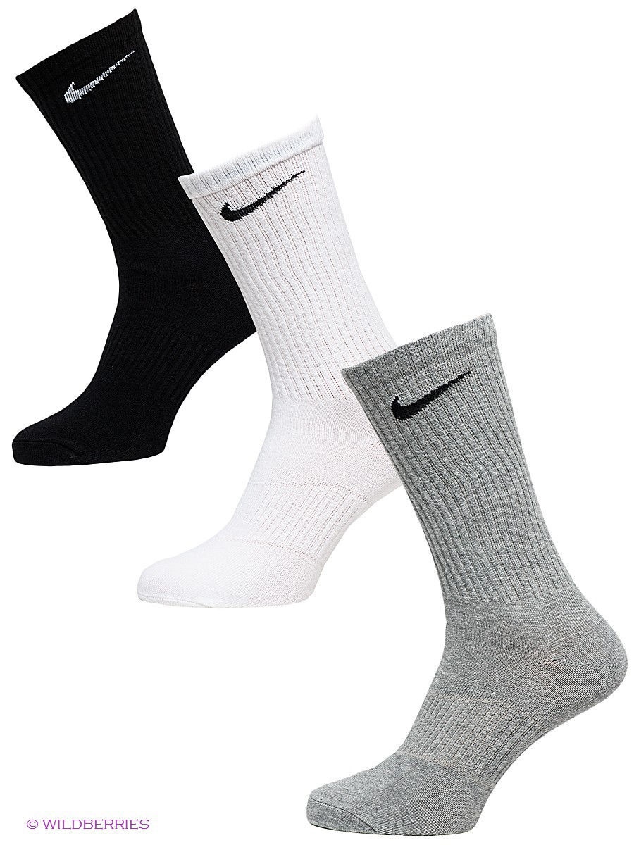 Носки Nike Носки 3PPK LIGHTWEIGHT CREW nike nike value cotton crew 3ppk