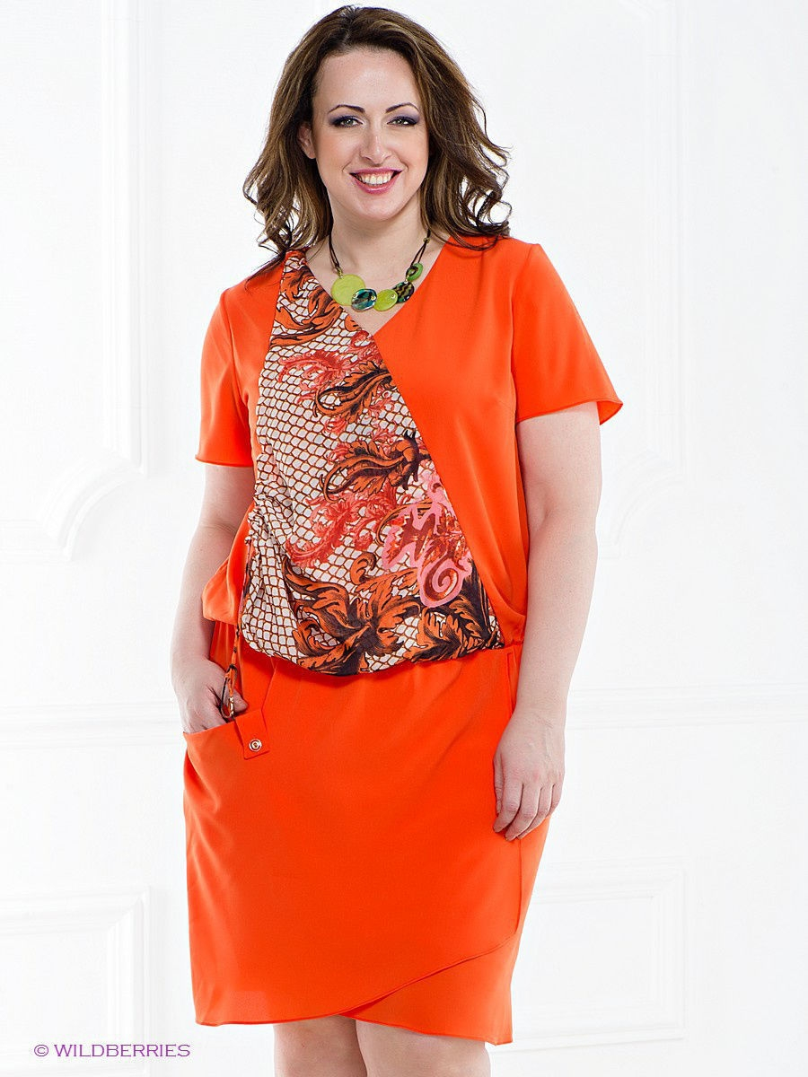 Платье Gemko plus size 13201/ORANGE