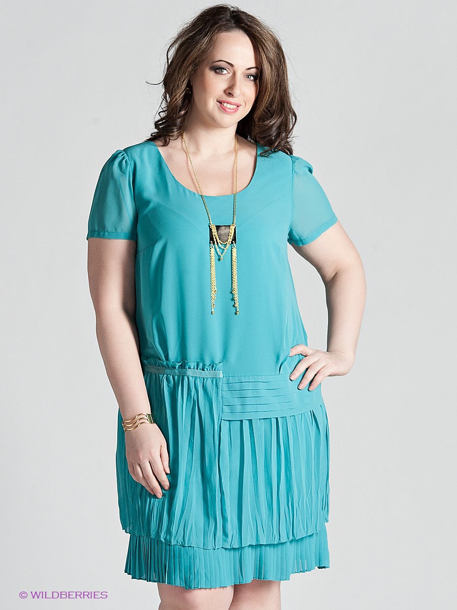Платье Gemko plus size 13280/MINT