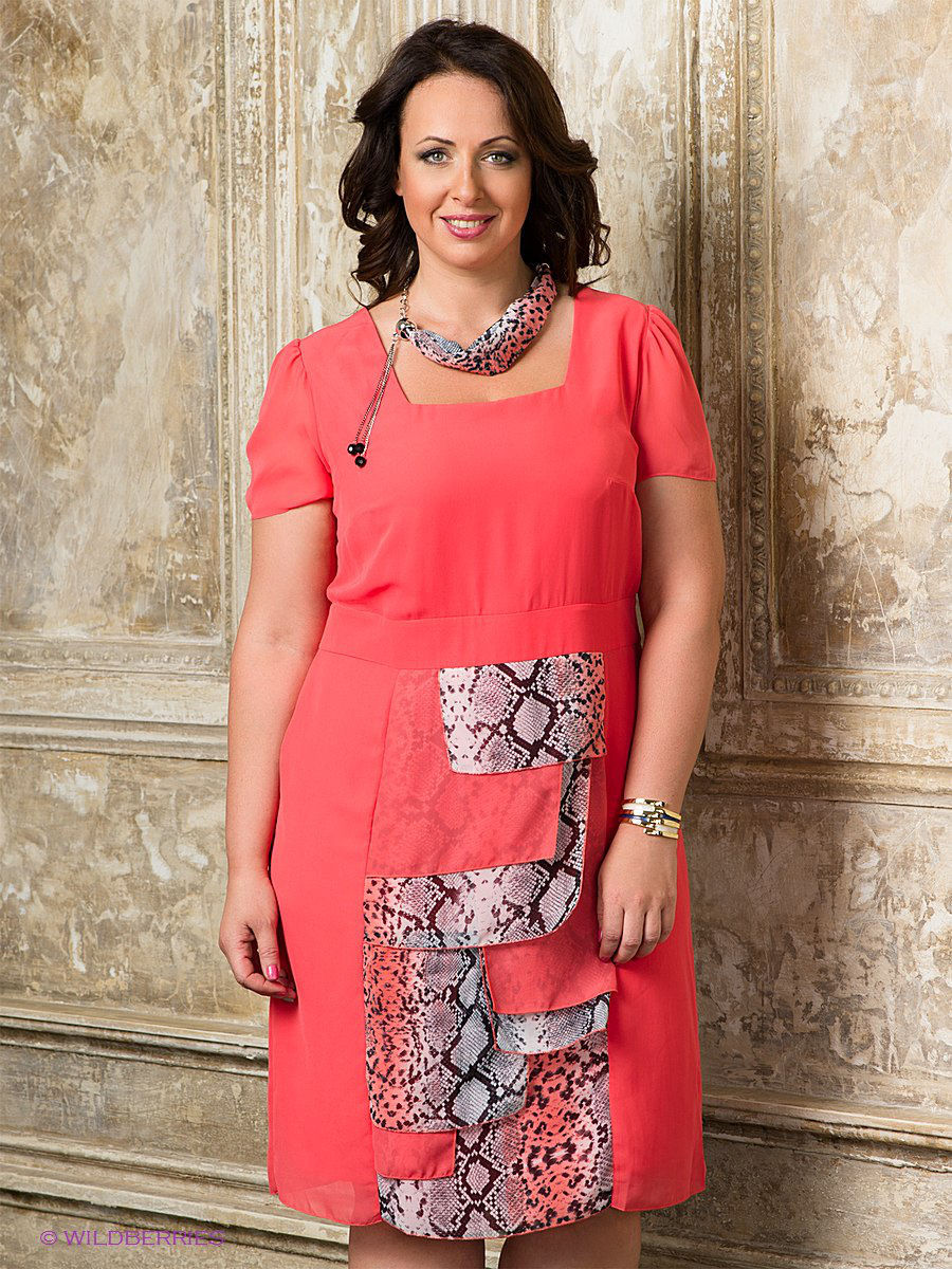Платье Gemko plus size 13184/MERCAN
