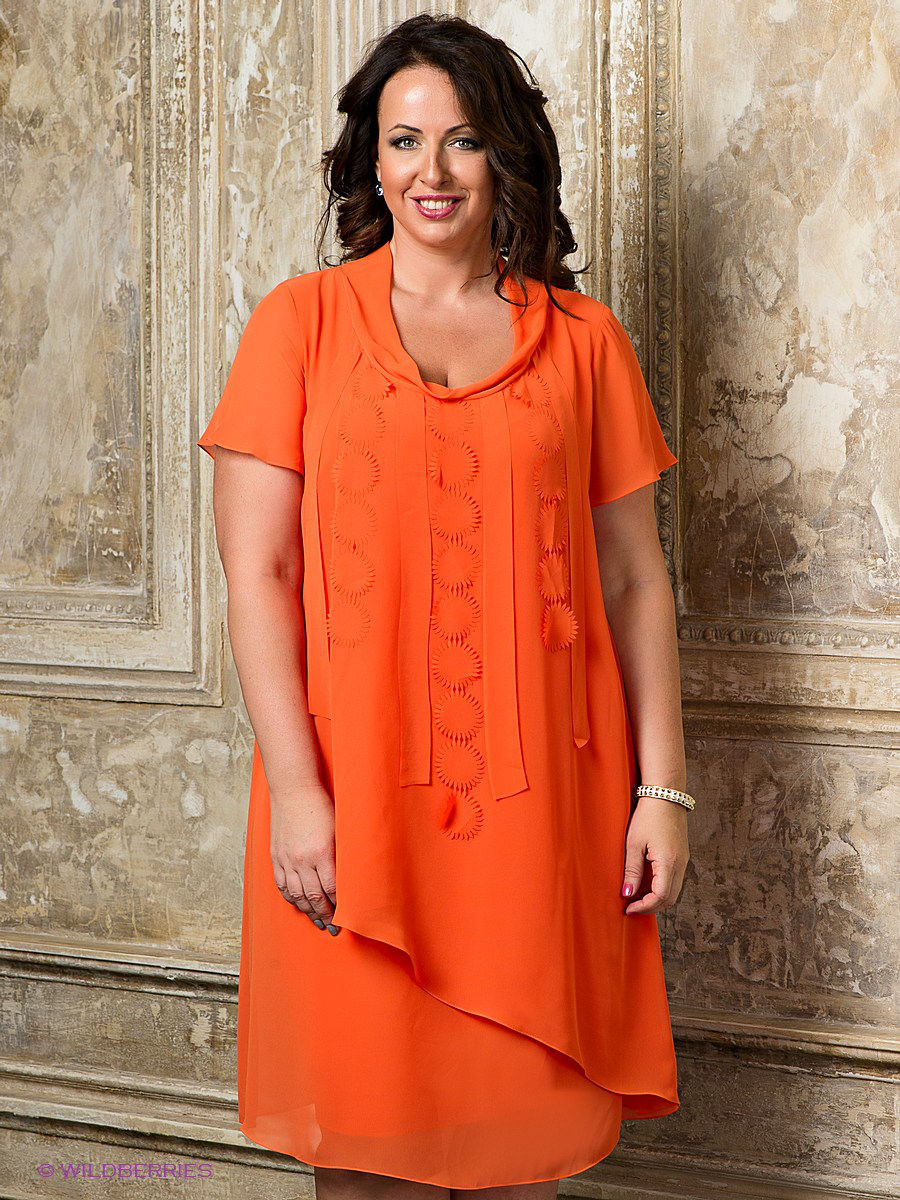 Платье Gemko plus size 13206/ORANGE