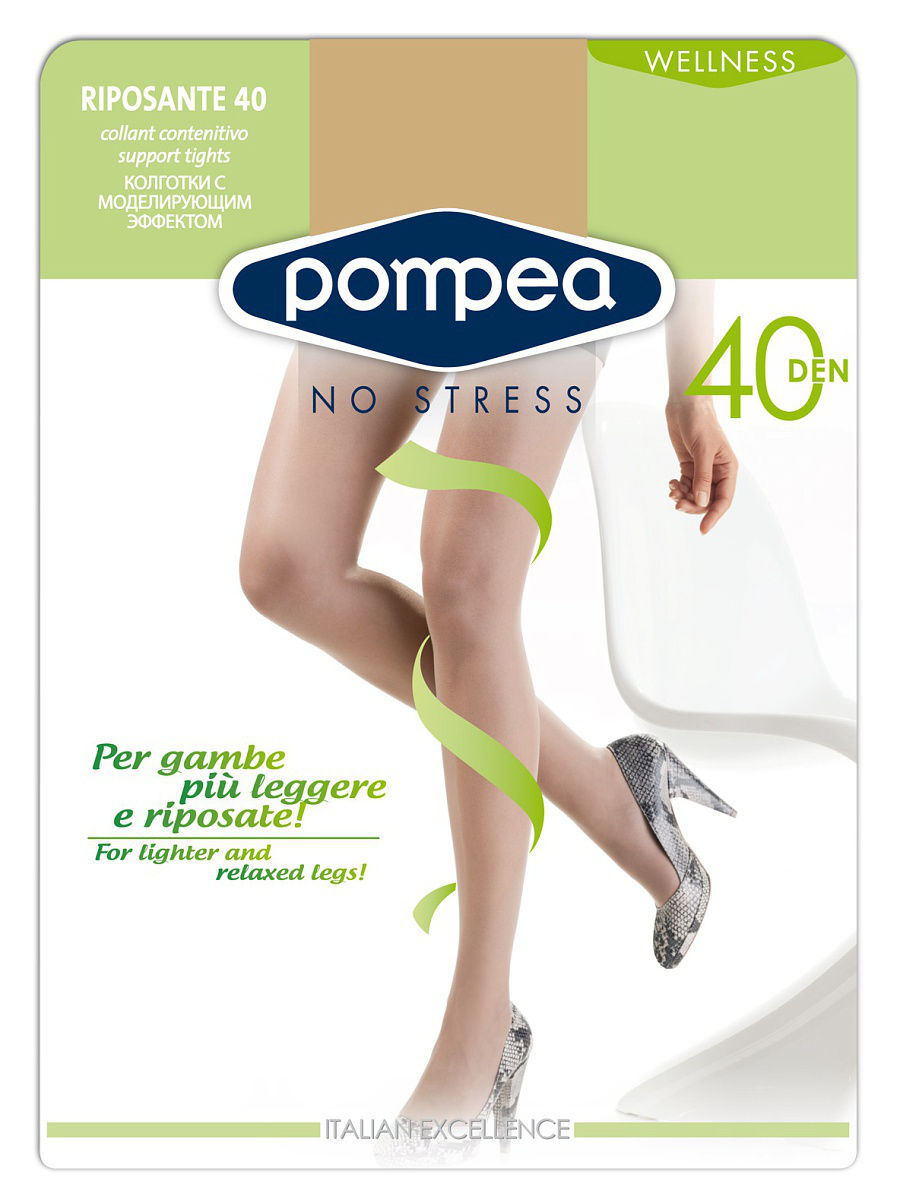 Колготки POMPEA RIPOSANTE40den/Nature