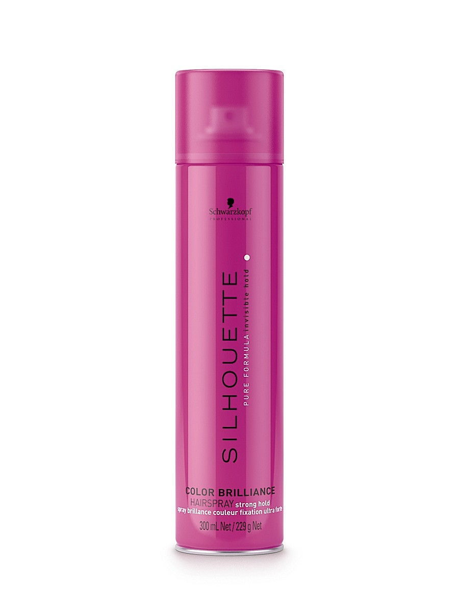 Лак Silhouette Pure Color Brilliance Hairspray super hold 500 мл Schwarzkopf Professional