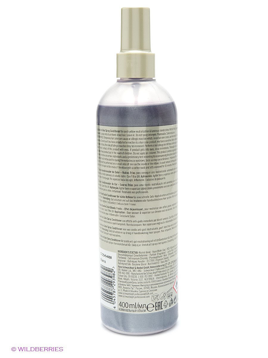 Schwarzkopf Professional Спрей Кондиционер BM Spray Conditioner Cool-Ice 400 ml