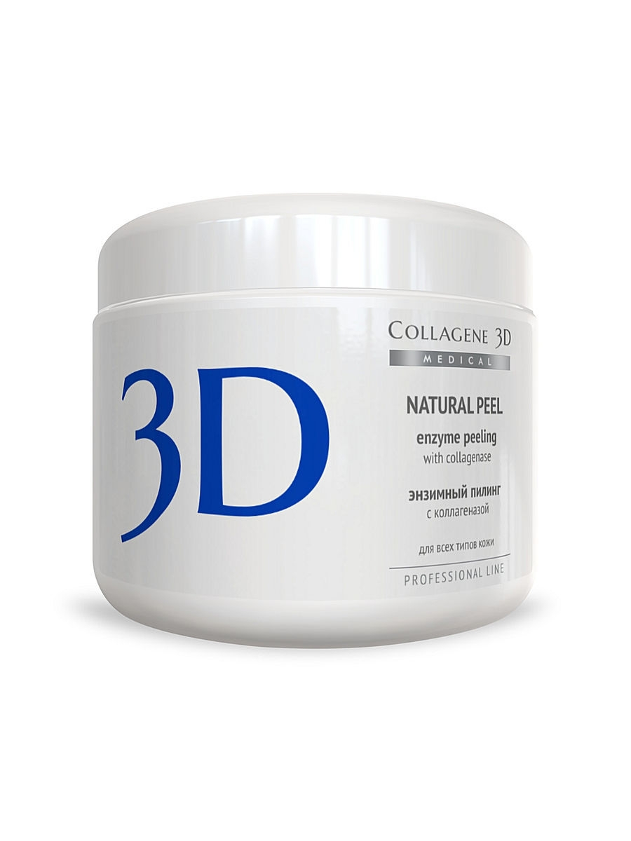 Пилинг ферментативный Natural peel 150 г Medical Collagene 3D