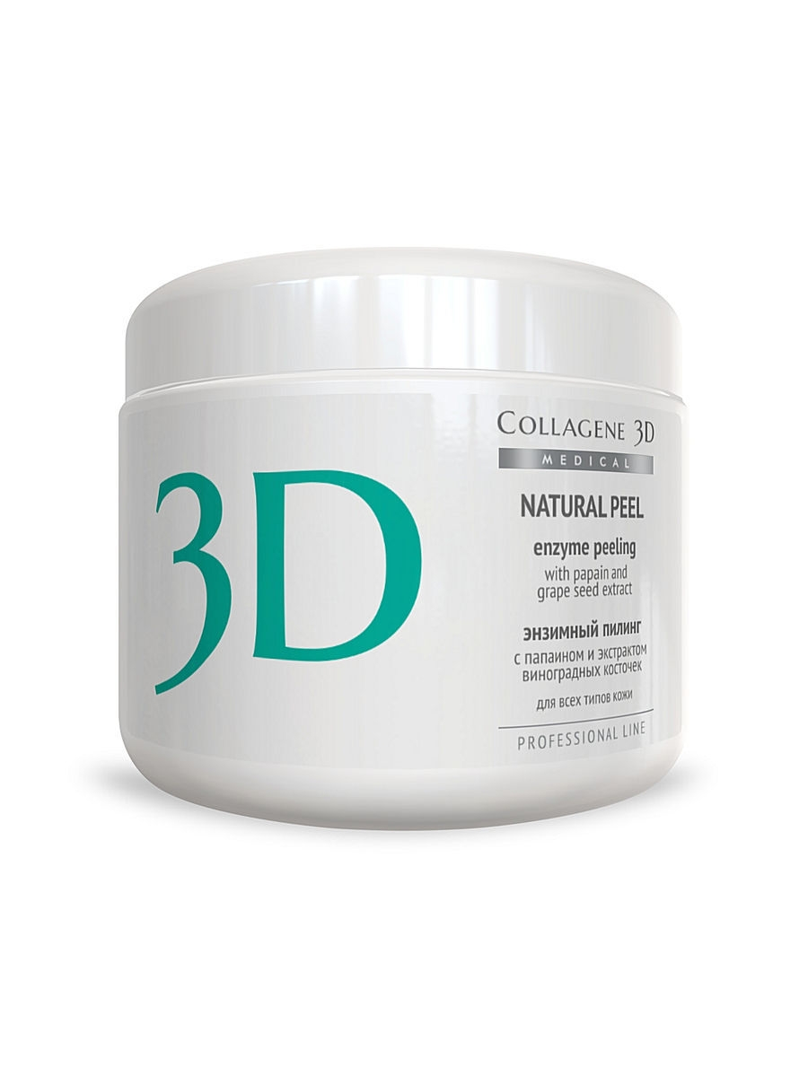 Пилинг ферментативный Natural peel с папаином и виногр 150 г Medical Collagene 3D