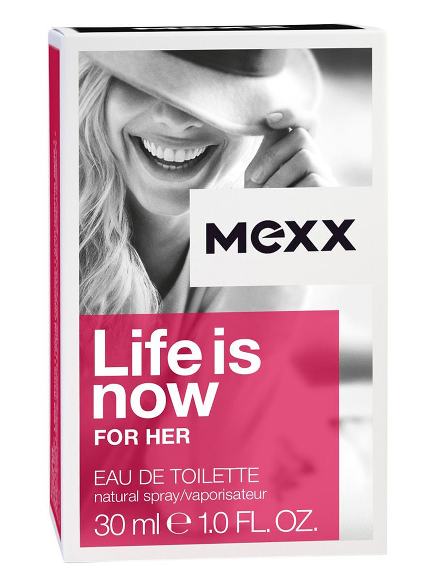 MEXX Туалетная вода life is now woman