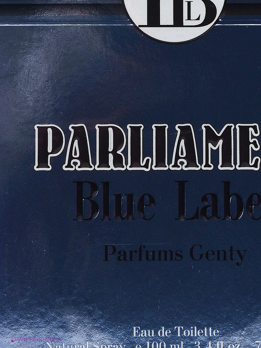 PARFUMS GENTY Туалетная вода PARLIAMENT BLUE LABEL EDT 100 ML SPRAY