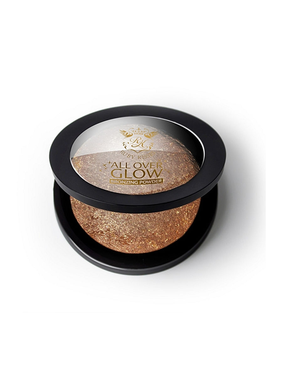 Kiss Бронзирующая пудра Bronze Glow  Face  Body Bling Powder ABP03