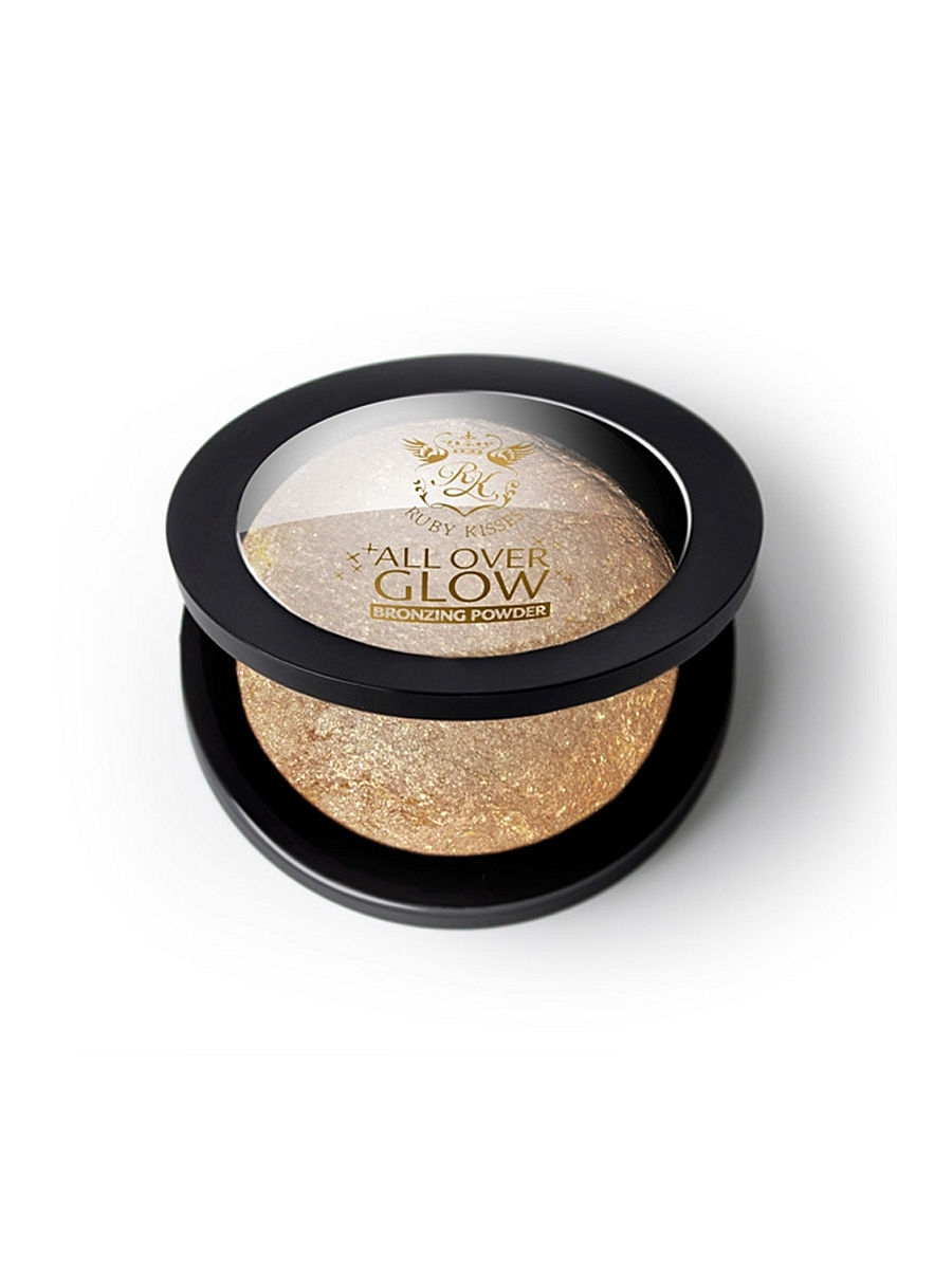 Kiss Бронзирующая пудра Deep Glow  Face  Body Bling Powder ABP04