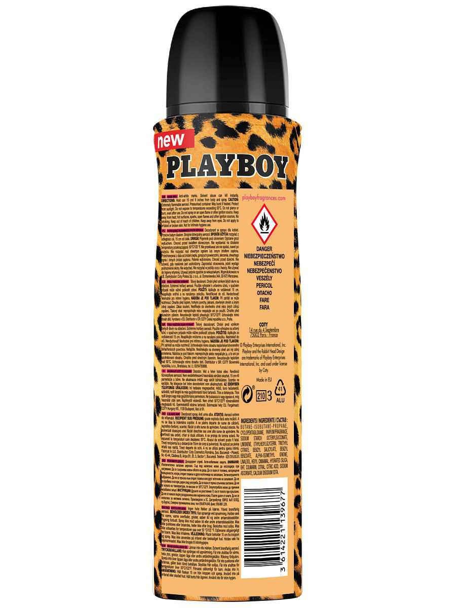 Playboy Play It Wild Female Парфюмированный дезодорант спрей 150 мл PLAYBOY