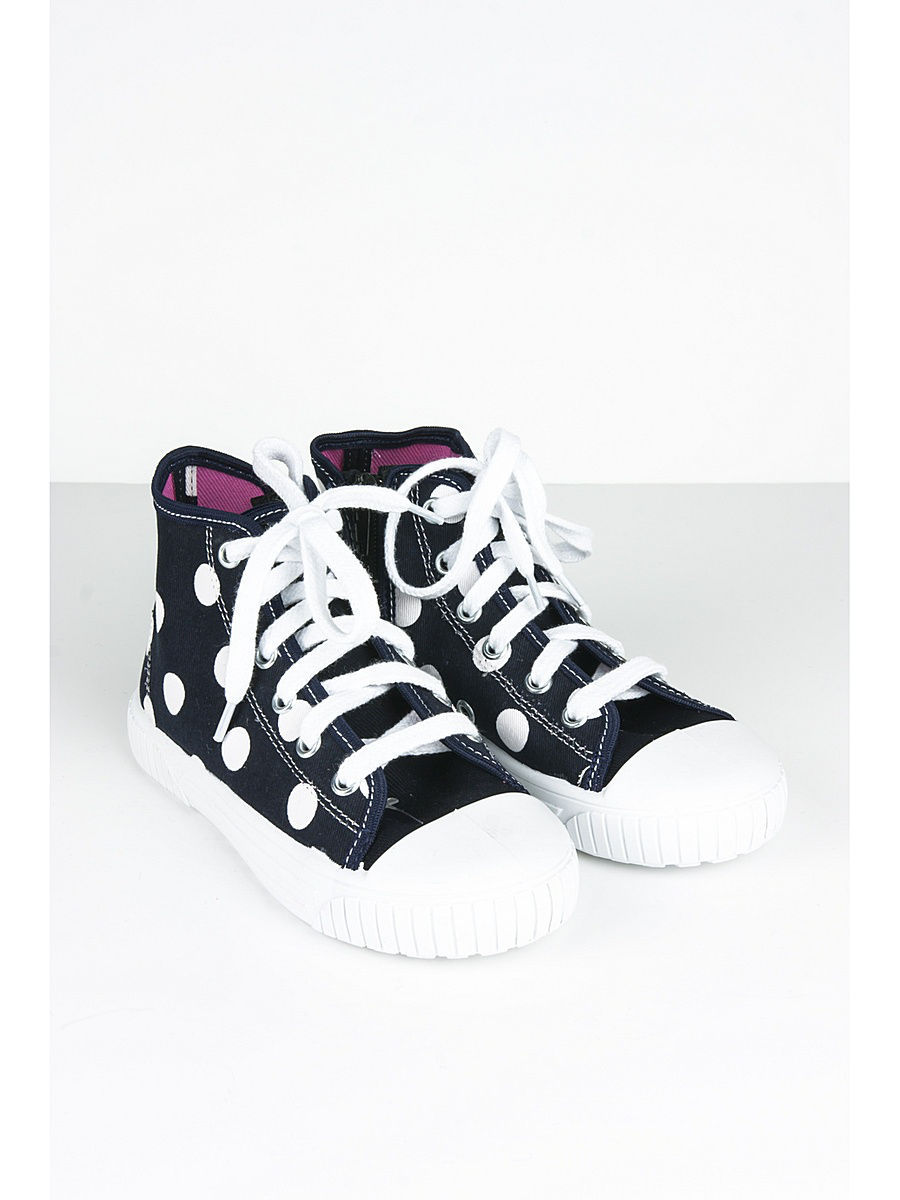 Кеды для мальчиков Little Lemon Bear  VI SNEAKERS 17 HIGH NAVY DOTS black whitedots 146fc74b4932c