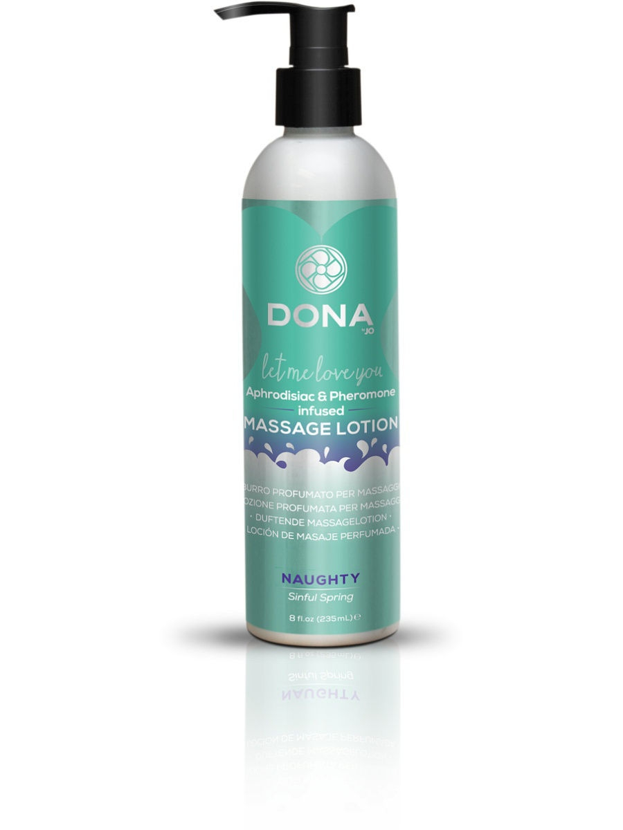 SYSTEM JO Увлажняющий лосьон для массажа DONA Massage Lotion Naughty Aroma: Sinful Spring