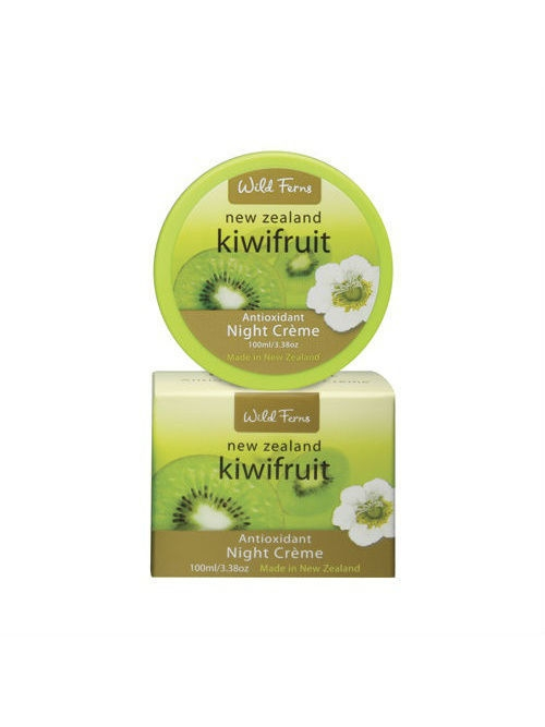 Wild Ferns Ночной крем Kiwifruit Night Creme для лица с антиоксидантами и экстрактом киви, 100 мл