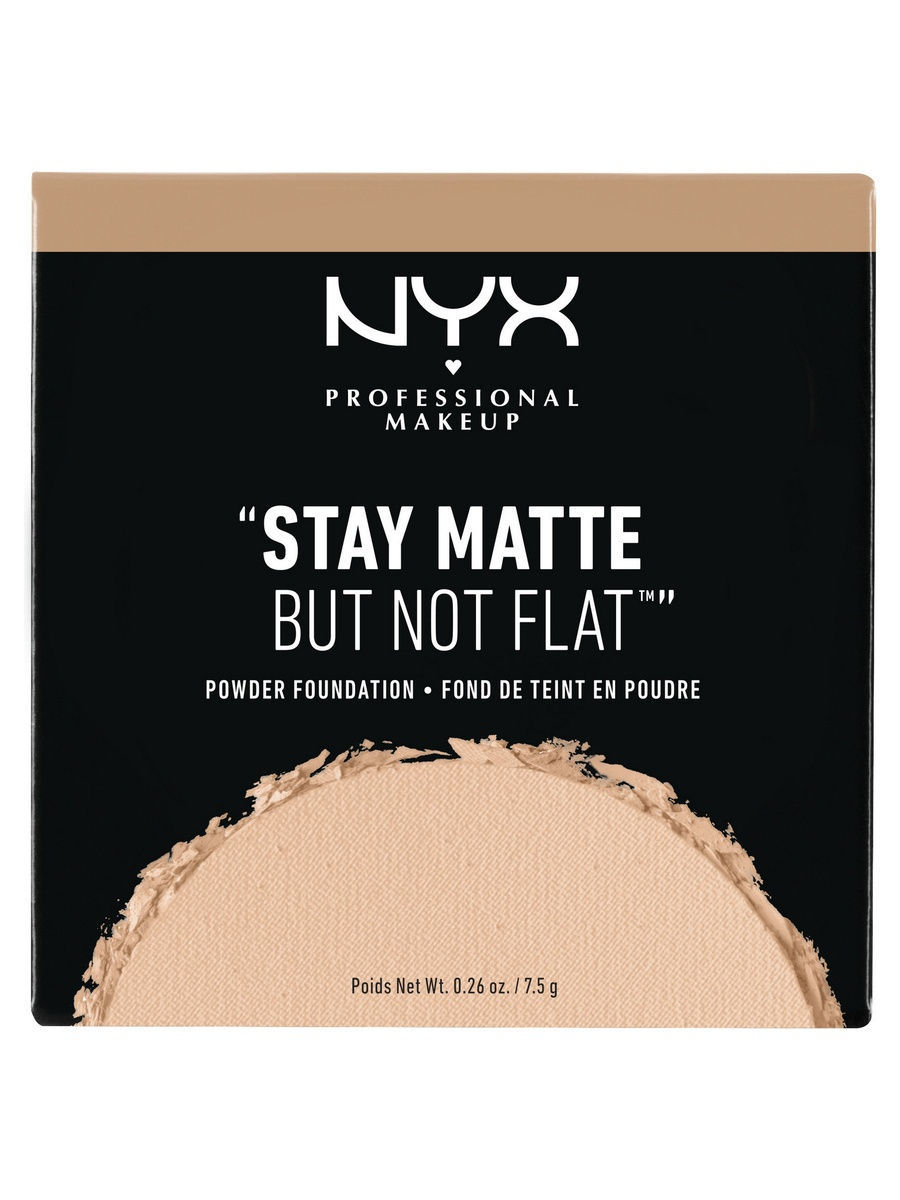 NYX PROFESSIONAL MAKEUP Тональная основа-пудра. STAY MATTE NOT FLAT POWDER FOUNDATION - SOFT SAND