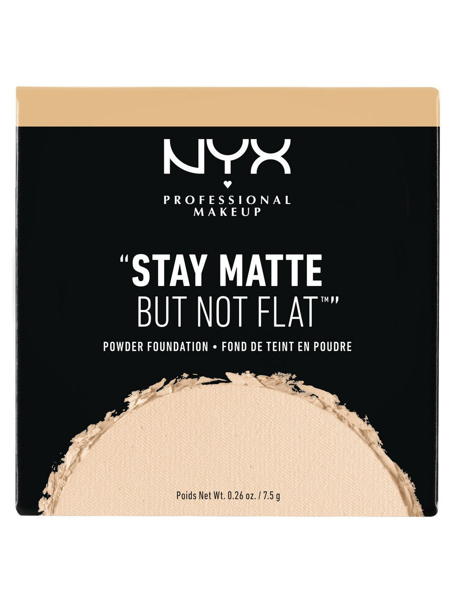 NYX PROFESSIONAL MAKEUP Тональная основа-пудра. STAY MATTE BUT NOT FLAT POWDER FOUNDATION - NATURAL