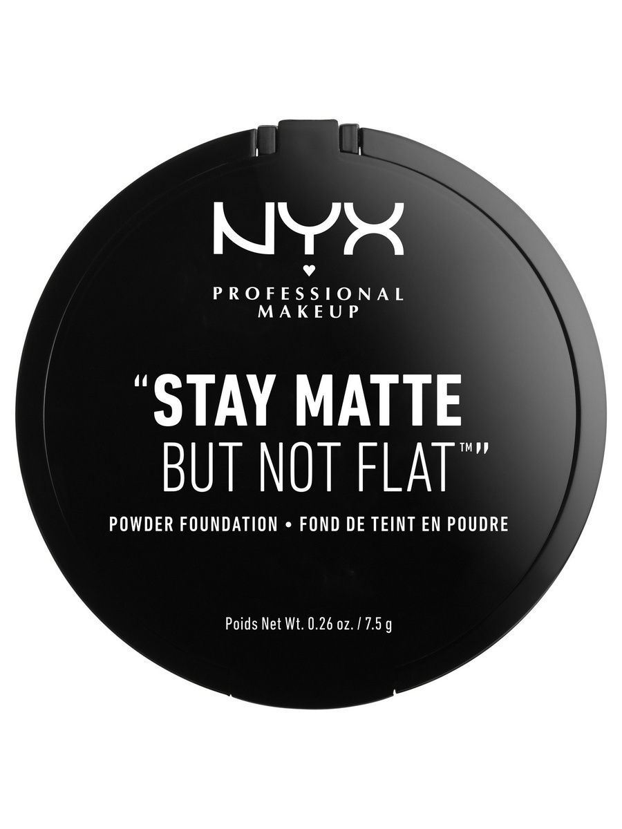 NYX PROFESSIONAL MAKEUP Тональная основа-пудра. STAY MATTE BUT NOT FLAT POWDER FOUNDATION - CREAMY NATURAL