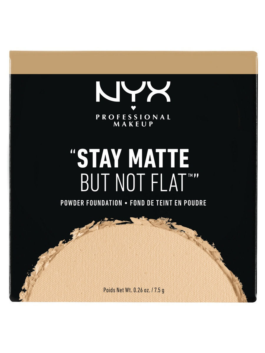 NYX PROFESSIONAL MAKEUP Тональная основа-пудра. STAY MATTE NOT FLAT POWDER FOUNDATION -WARM BEIGE