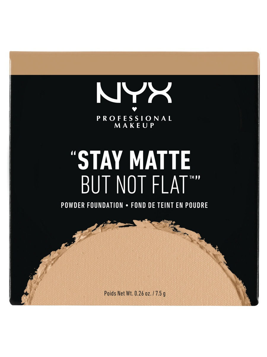 NYX PROFESSIONAL MAKEUP Тональная основа-пудра. STAY MATTE BUT NOT FLAT POWDER FOUNDATION - TAN