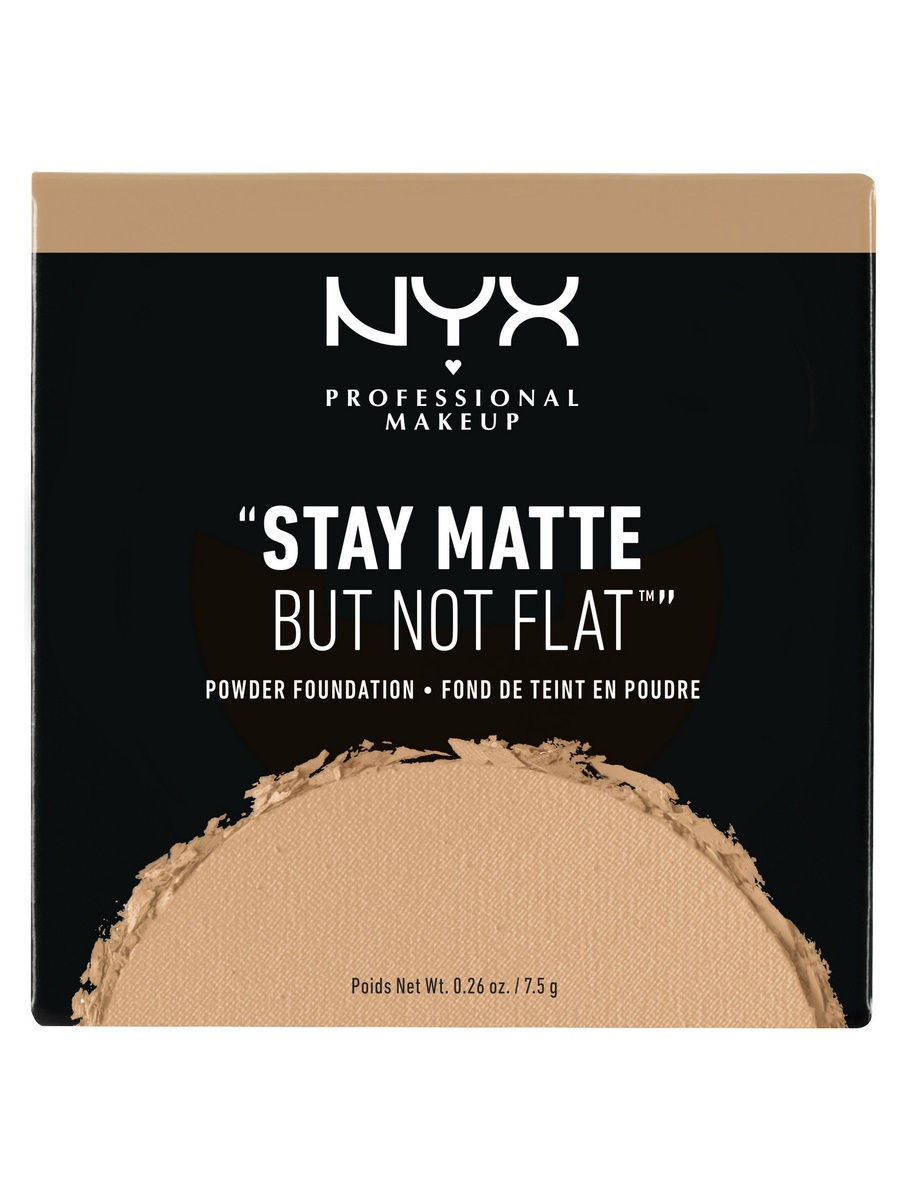 NYX PROFESSIONAL MAKEUP Тональная основа-пудра. STAY MATTE BUT NOT FLAT POWDER FOUNDATION - CARAMEL